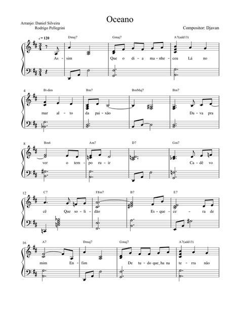 Oceano  music sheet