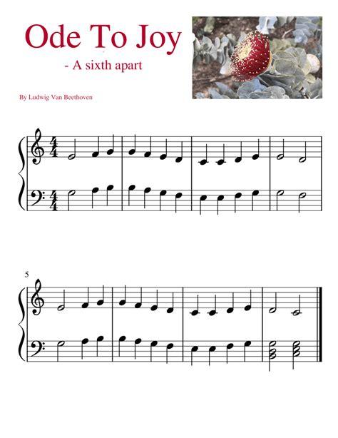 Ode To Joy A Version Score Parts music sheet