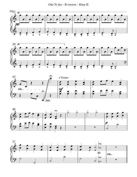 Ode To Joy B Version Harp Ii  music sheet