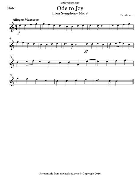 Ode To Joy From Symphony No 9 For Flute Quartet music sheet