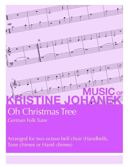 Oh Christmas Tree 2 Octave Handbells Tone Chimes Or Hand Chimes  music sheet