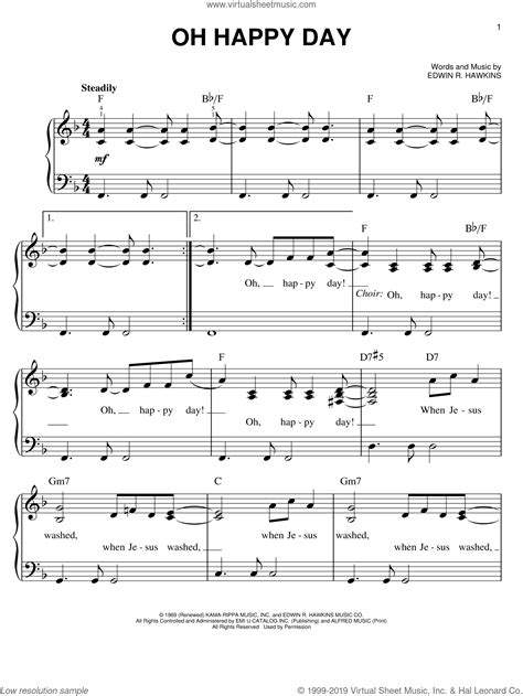 Oh Happy Day  music sheet