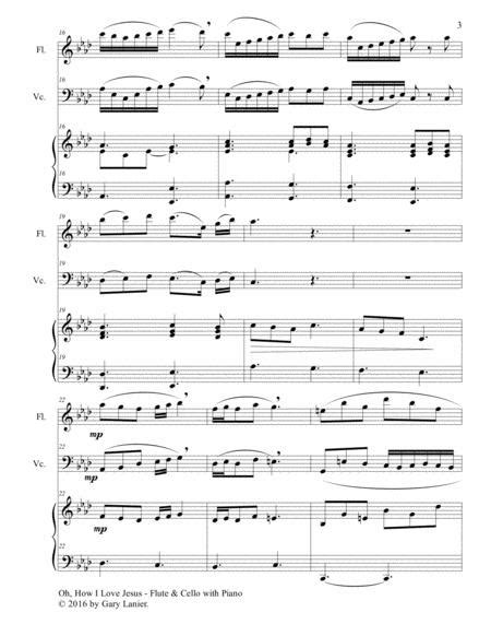 Oh How I Love Jesus Trio Flute Cello With Piano Parts Included  music sheet
