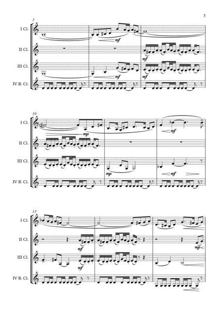 Olympic Theme Leo Arnaud Clarinet Quartet Arr Adrian Wagner  music sheet
