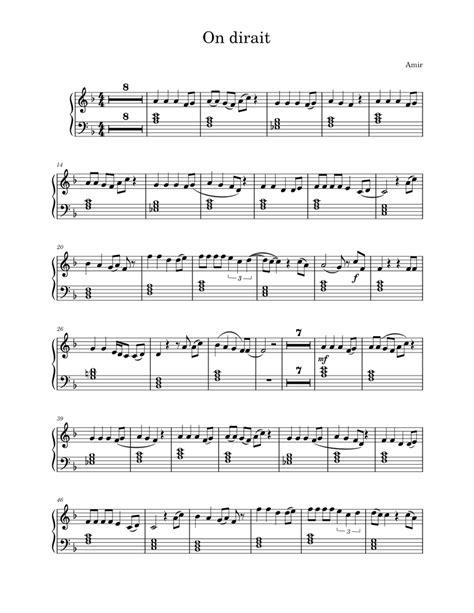 On Dirait Amir Karaok For Clarinet  music sheet
