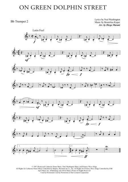 On Green Dolphin Street For Brass Quartet  music sheet