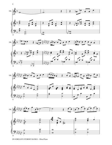 On Jordans Stormy Banks Piano Accompaniment Track For Oboe  music sheet