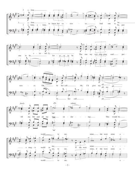 One Alone M Quartet Pricing  music sheet