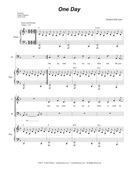 One Day For 2 Part Choir Tb  music sheet