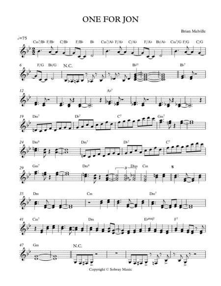One For Jon  music sheet