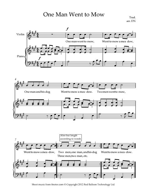 one man to another music sheet