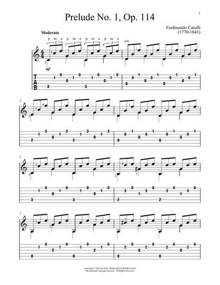 Op 1 No 2 Prelude  music sheet