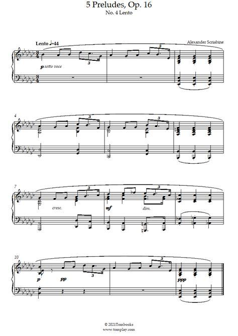 Opus 16  music sheet