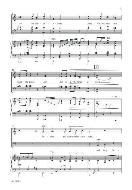 Our Dwelling Place  music sheet