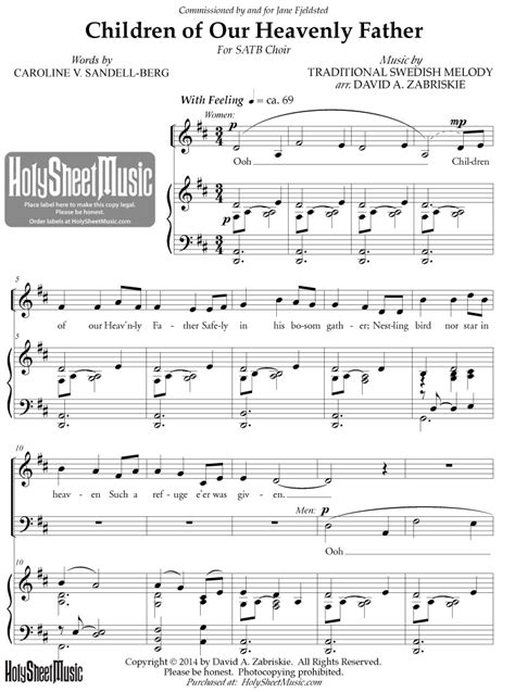 Our Father For Satb Choir And Piano  music sheet