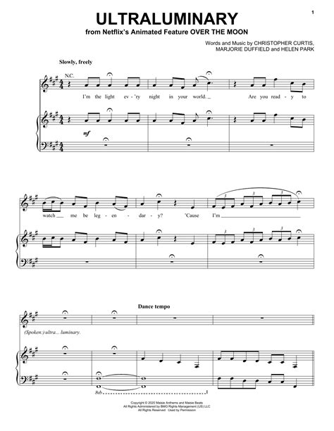 Over The Moon  music sheet