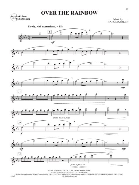 Over The Rainbow The Wizard Of Oz Brass Band With Vocal Solo  music sheet