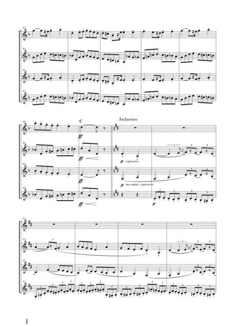Overture From L Arlesienne Suite No 1 For Clarinet Quartet  music sheet
