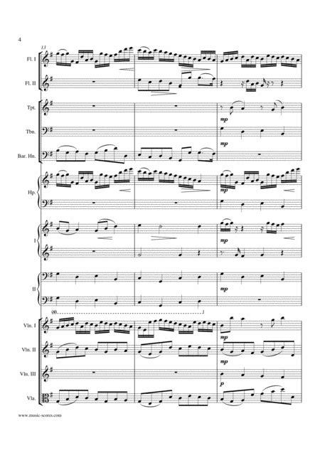 Pachelbels Canon In G Major Mixed Ensemble music sheet