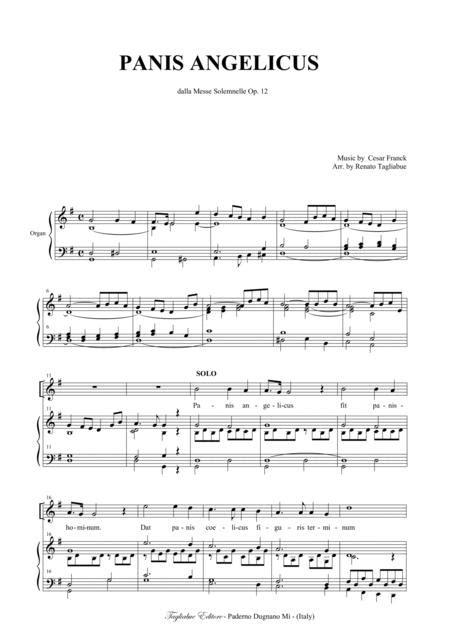Panis Angelicus For Sab And Organ  music sheet