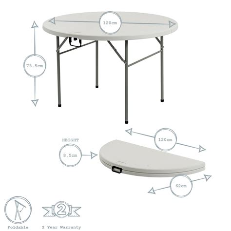 party folding round table eBay