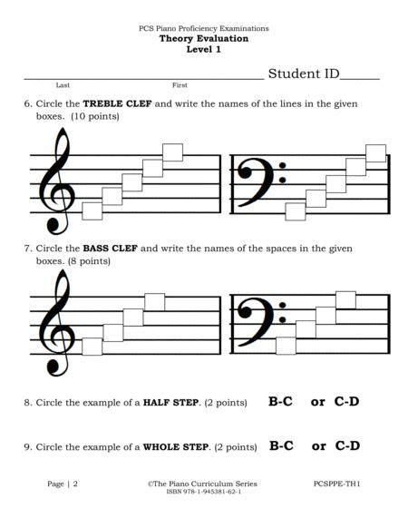 Pcs Theory Evaluation Level 1  music sheet
