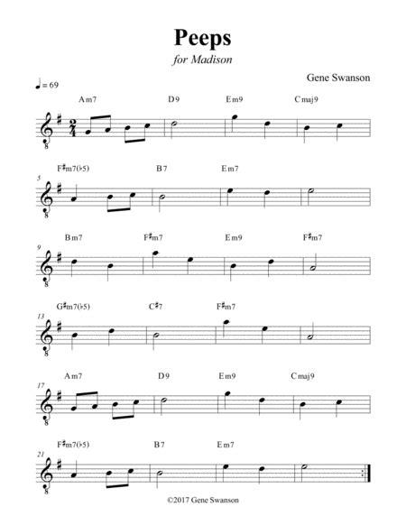 Peeps Play Along  music sheet