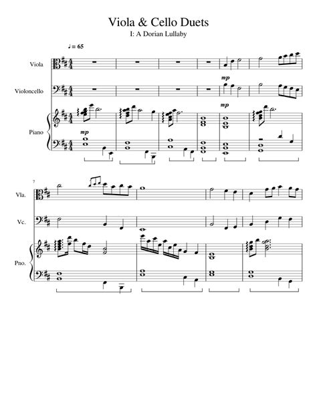 Perfect Viola Cello Duet  music sheet