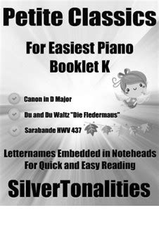 Petite Classics For Easiest Piano Booklet A4  music sheet