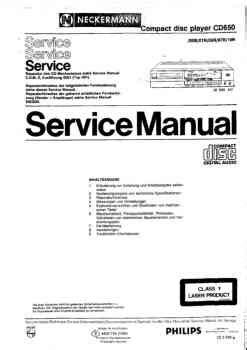 free download ebooks Philips Cd 650 Service Manual.pdf
