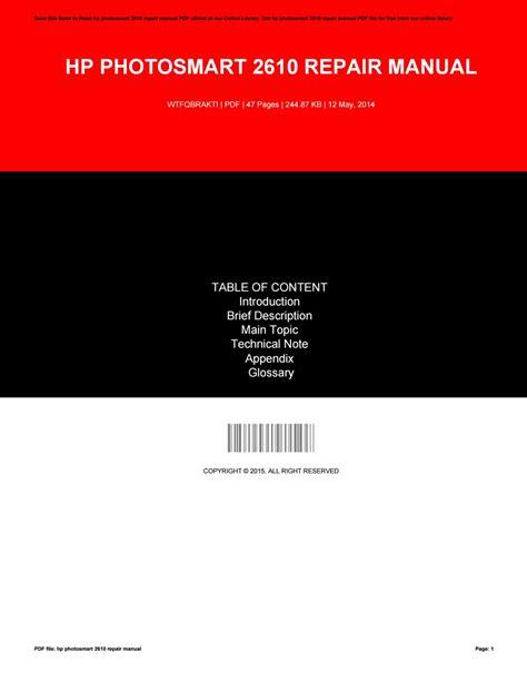 free download ebooks Photosmart 2610 Manual.pdf