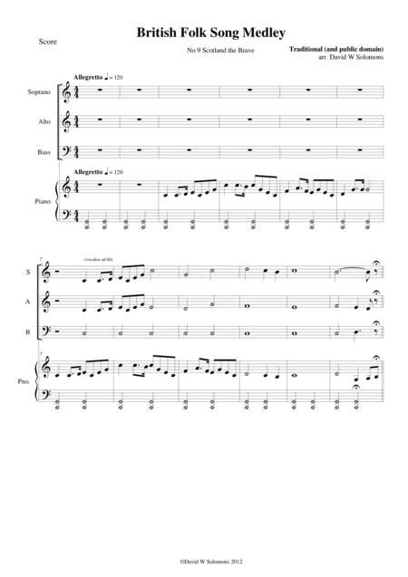 Piano Accompaniment For Scotland The Brave For Sab Choir And Piano Mp3  music sheet