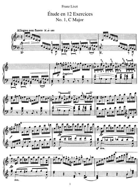 Piano Etude No 1 Allegro In C Major  music sheet