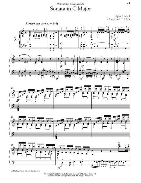 Piano Sonata No 3 In F Major Op 3  music sheet