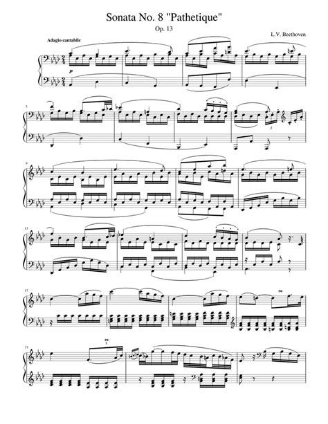 Piano Sonata No 8 In C Minor Pathetique Ii Adagio Cantabile By Ludwig Van Beethoven Solo Fingerstyle Guitar Tab  music sheet