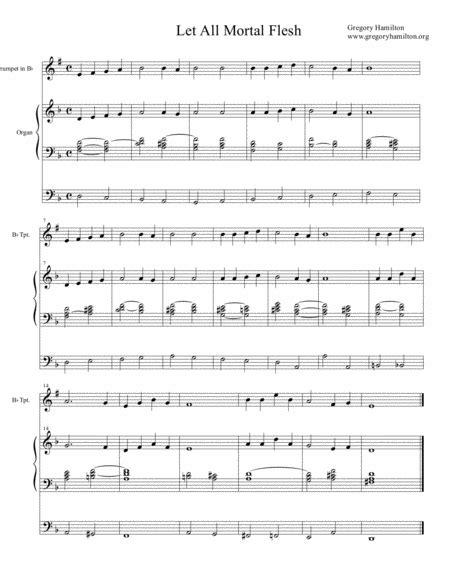 Picardy Let All Mortal Flesh Alternate Harmonization  music sheet