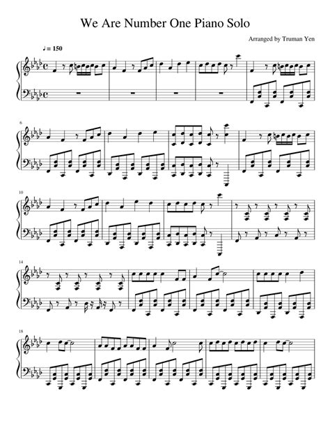 Piece For Piano Number 1  music sheet