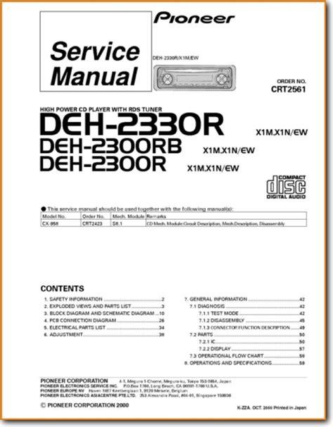 free download ebooks Pioneer Deh 2300 Manual.pdf