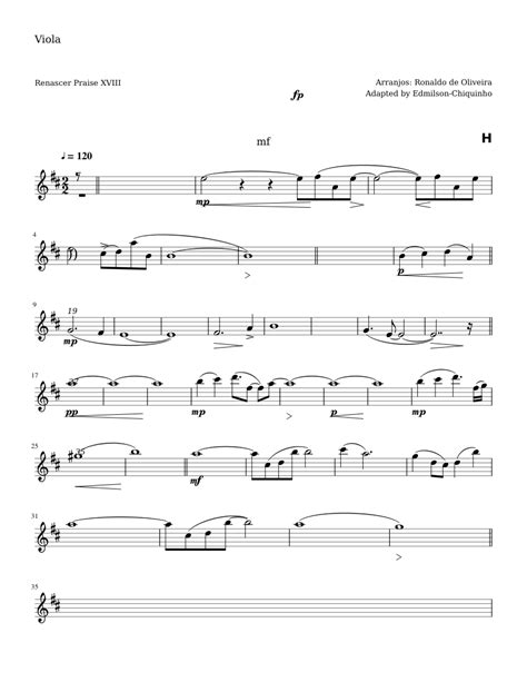 Planto  music sheet