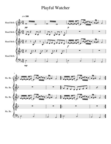 Playful  music sheet