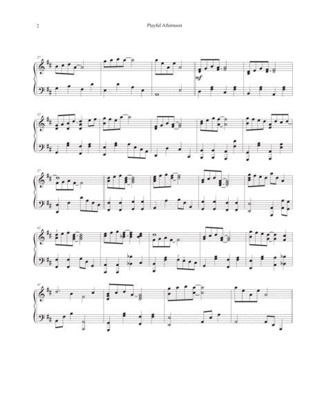 playful afternoon music sheet