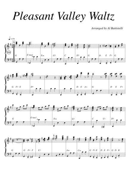 Pleasant Valley Waltz  music sheet