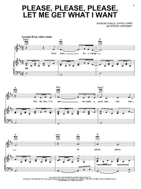 Please Please Please Let Me Get What I Want Piano Viola  music sheet