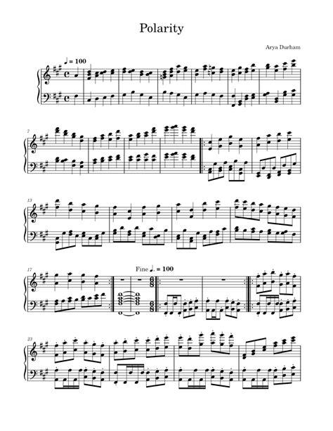 polarities music sheet