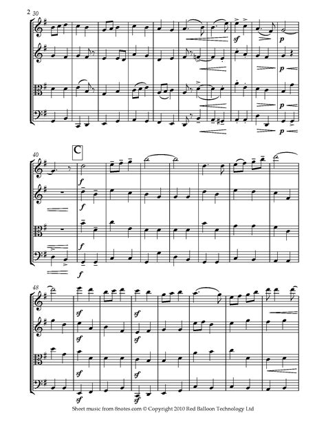 Pomp And Circumstance March No 1 Full For String Quartet  music sheet