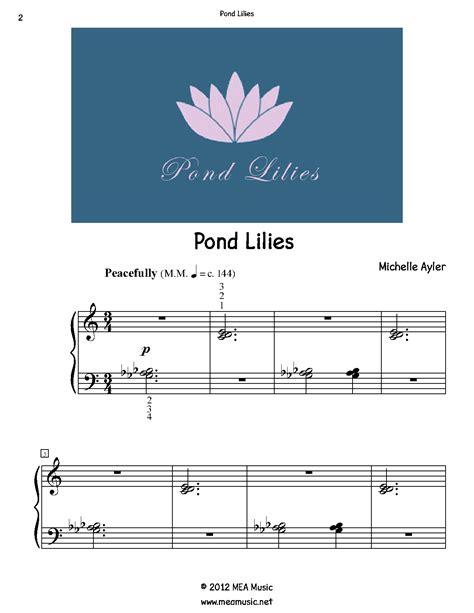 Pond Lilies  music sheet