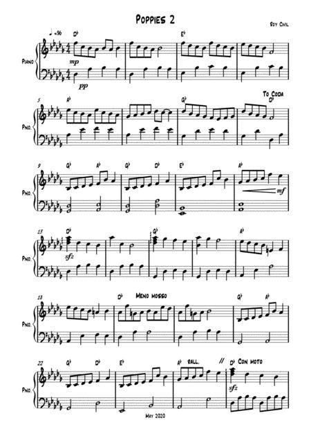Poppies 2  music sheet