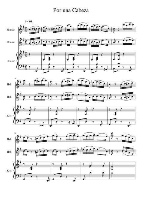 Por Una Cabeza For Viola And Cello Duo  music sheet