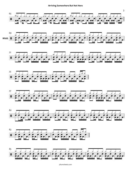 Porcupine Tree Arriving Somewhere But Not Here  music sheet