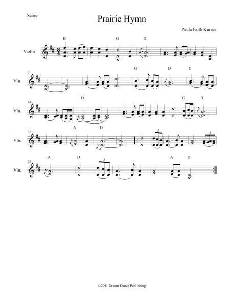 Prairie Hymn  music sheet